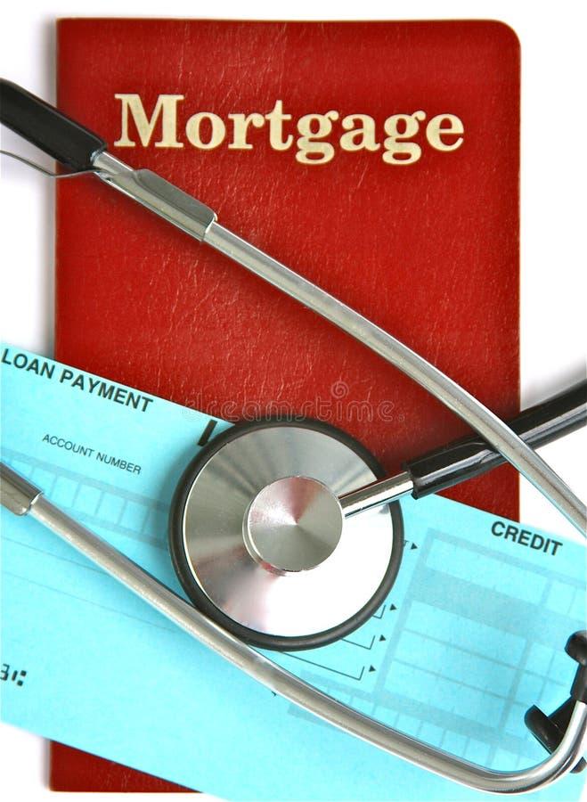 Santé d'hypothèque image libre de droits