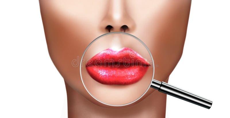 Santé et beauté médicales de chirurgie plastique et d'amélioration de cosmétique illustration libre de droits