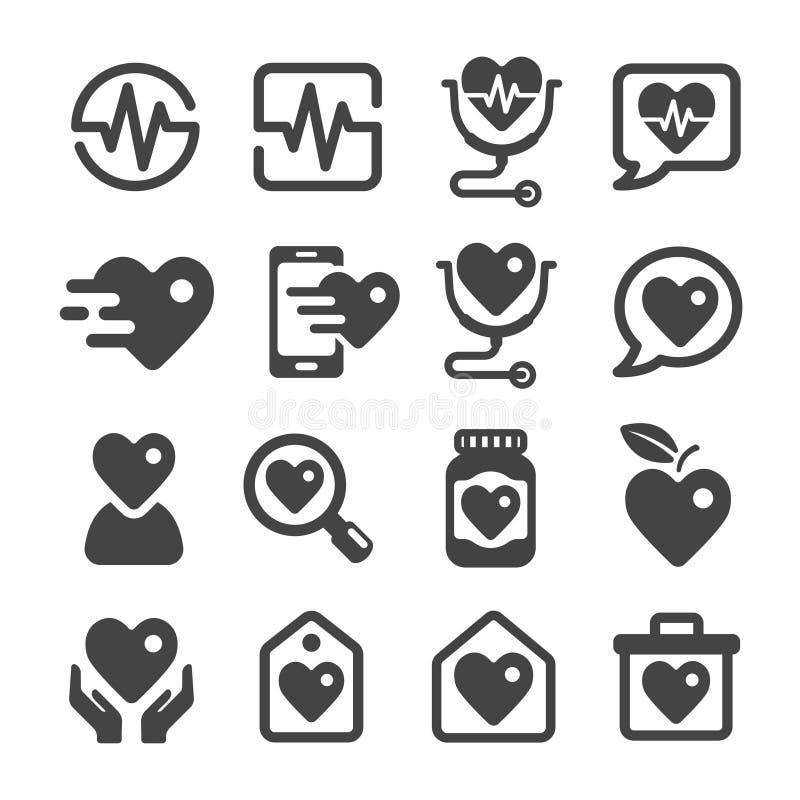 Santé et positionnement médical de graphisme illustration libre de droits