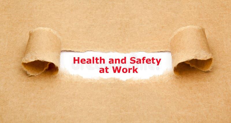 Santé et sécurité au concept de travail image libre de droits