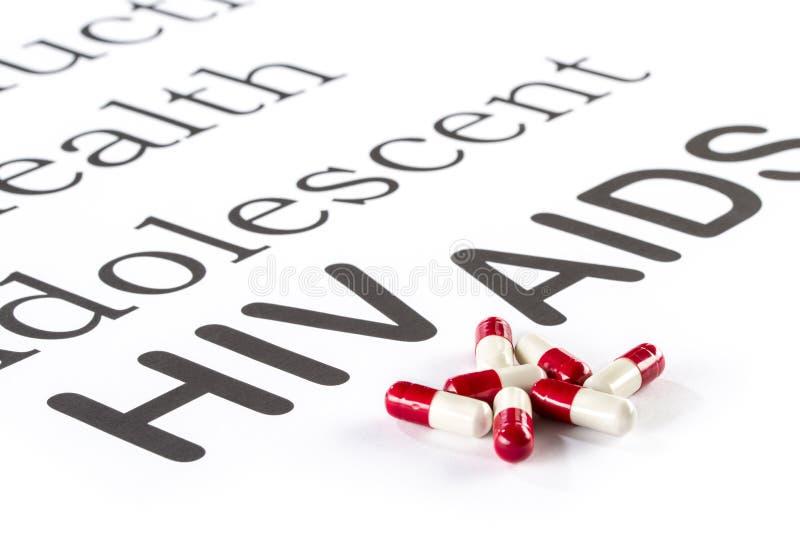 Santé génésique par l'adolescent, SIDA, HIV, sicknes de médicament image libre de droits