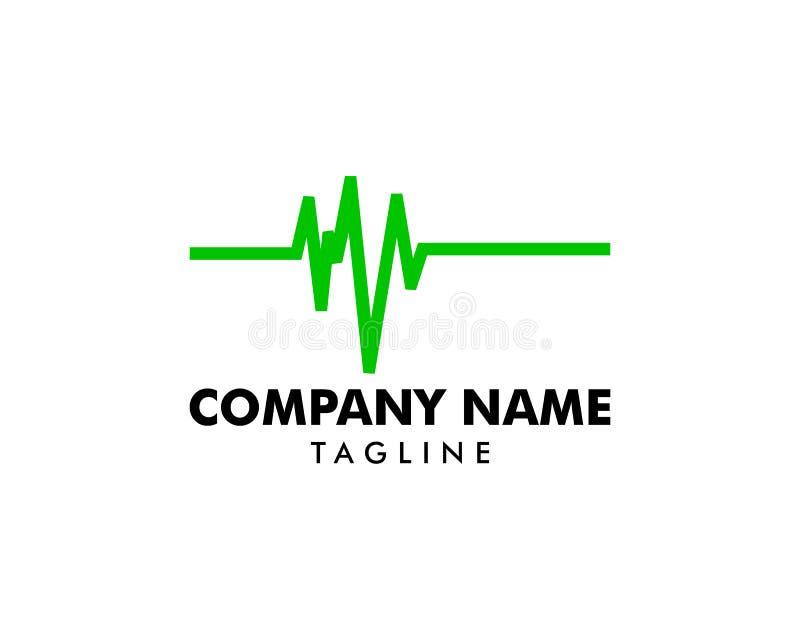 Santé Logo Template médical d'impulsion illustration stock