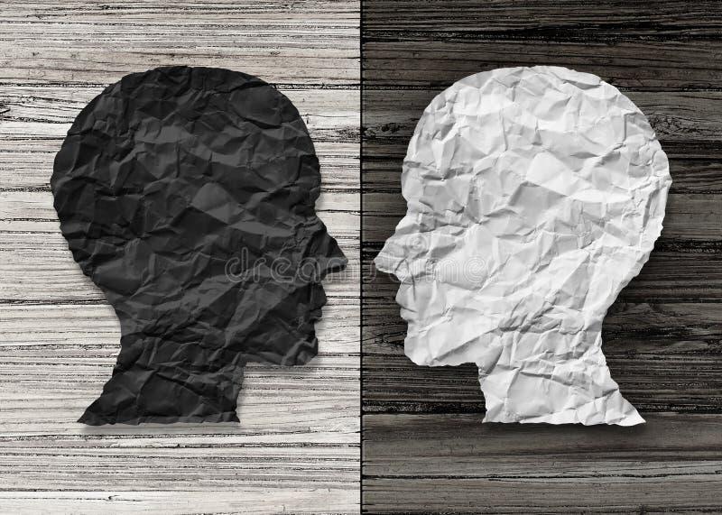 Santé mentale bipolaire illustration stock