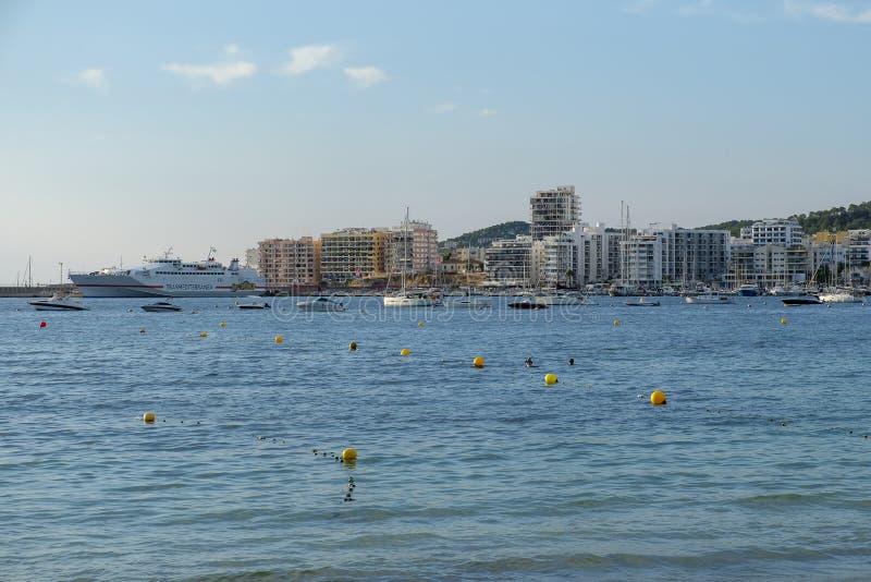 Sant安东尼de Portmany,伊维萨岛 免版税库存图片