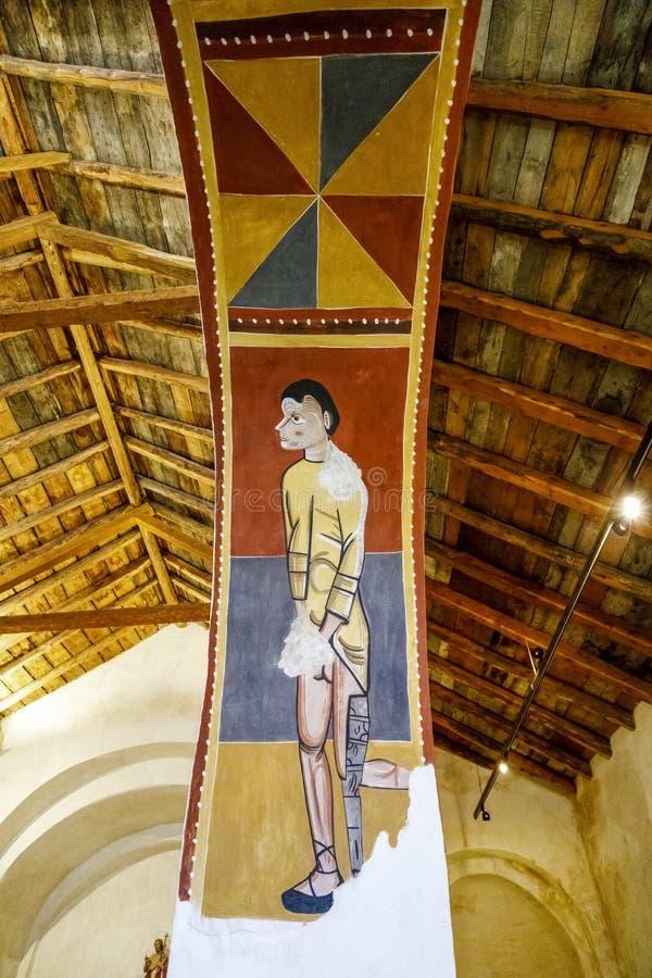 Sant霍安在Bohi谷的de Boi罗马教会,卡塔龙尼亚-西班牙 免版税库存照片