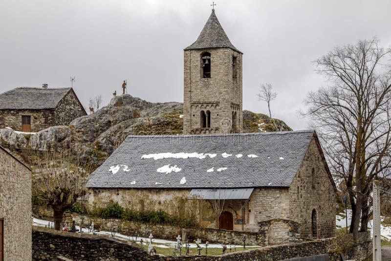 Sant霍安de Boi,卡塔龙尼亚-西班牙罗马教会  免版税库存照片