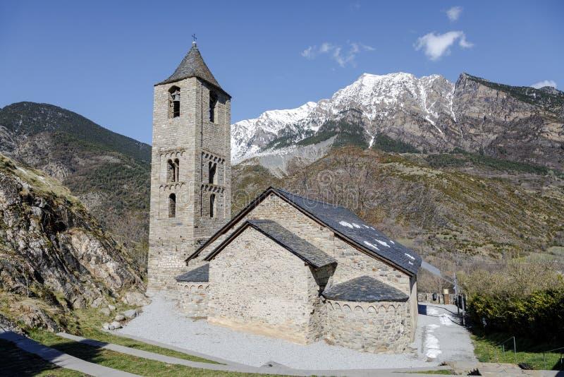 Sant霍安de Boi,卡塔龙尼亚-西班牙罗马教会  免版税图库摄影
