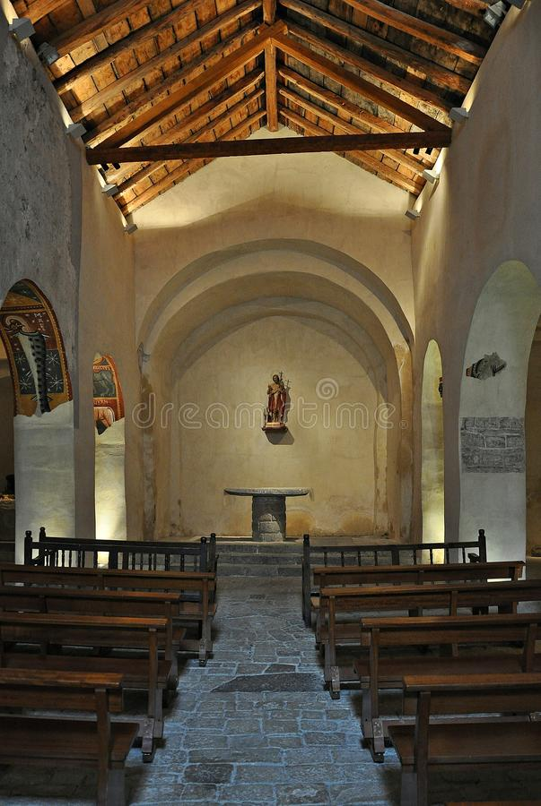 Sant霍安de TaA? ¼ ll教会  免版税库存图片