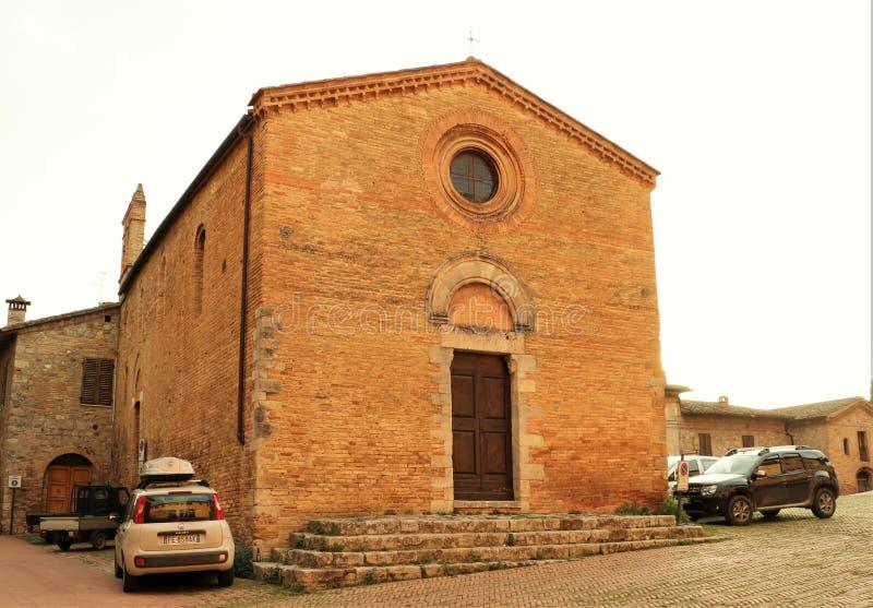 Sant 'Agostino Church, San Gimignano imagen de archivo libre de regalías