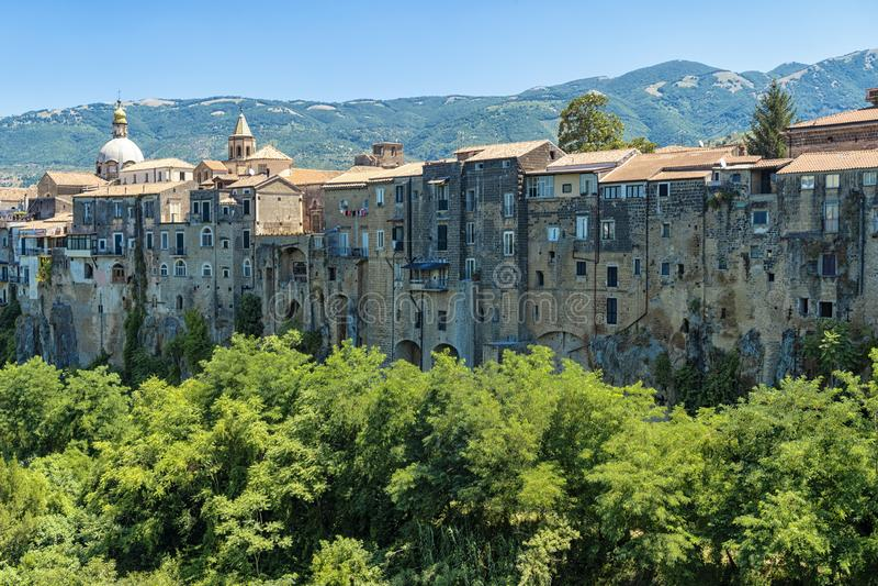 Sant Agata De Goti, een historische stad in de provincie Caserta royalty-vrije stock foto's