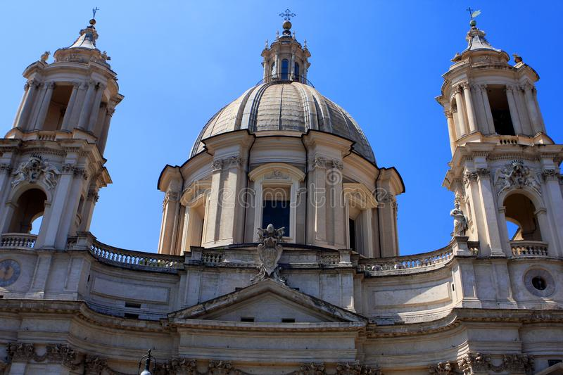 Sant`Agnese in Agone church, Rome stock photos
