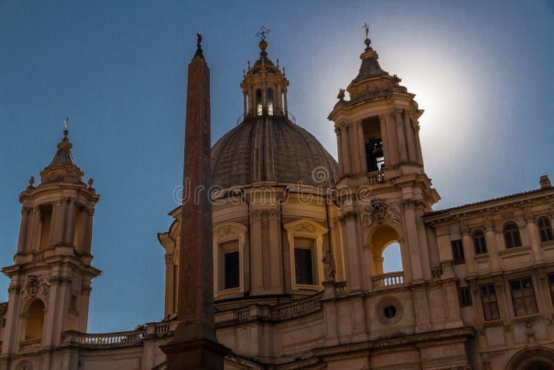 Sant Agnese in Agone nella piazza Navona fotografie stock