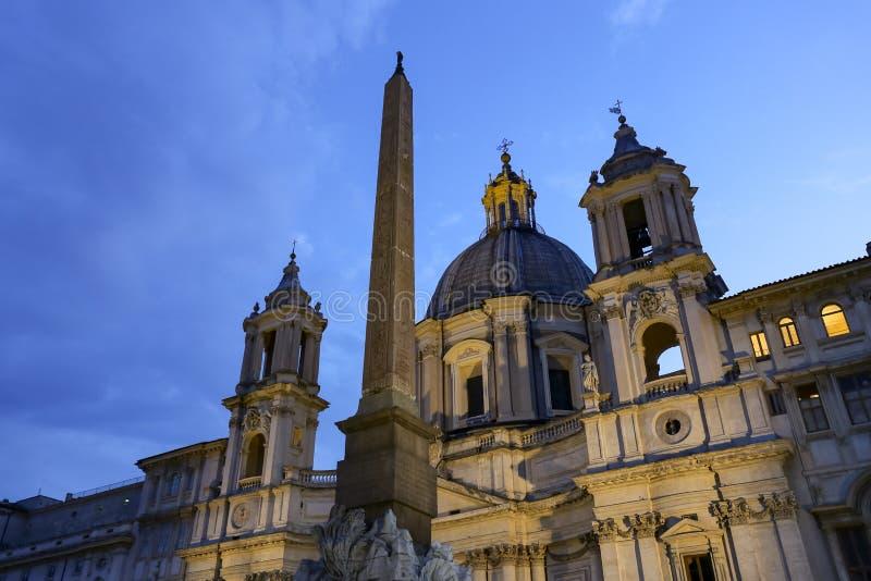 Sant Agnese in Agone in Rom, Italien stockbild