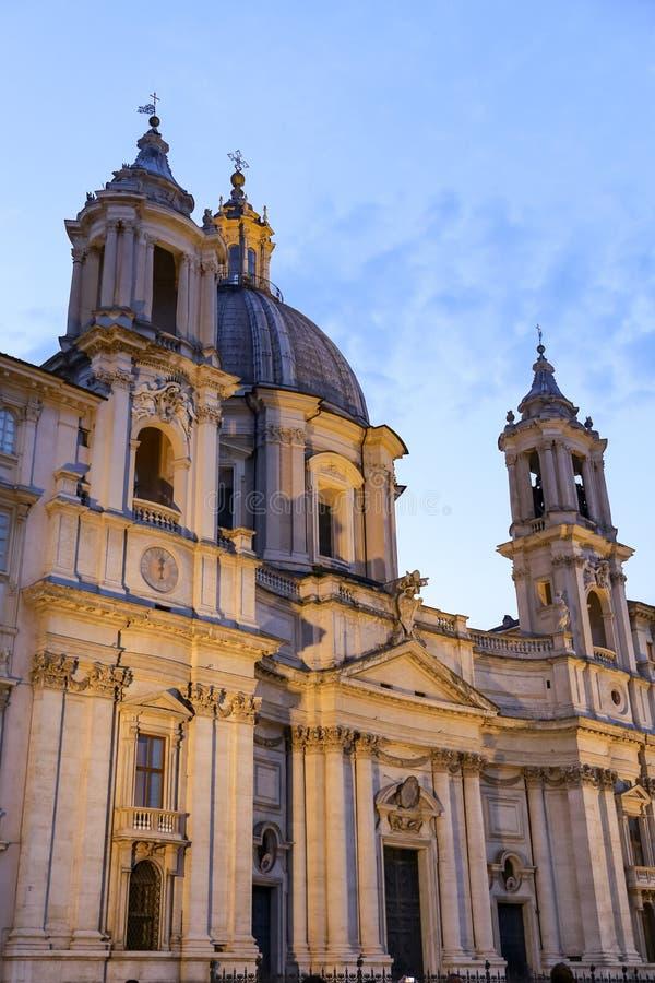 Sant Agnese in Agone in Rom, Italien lizenzfreie stockbilder