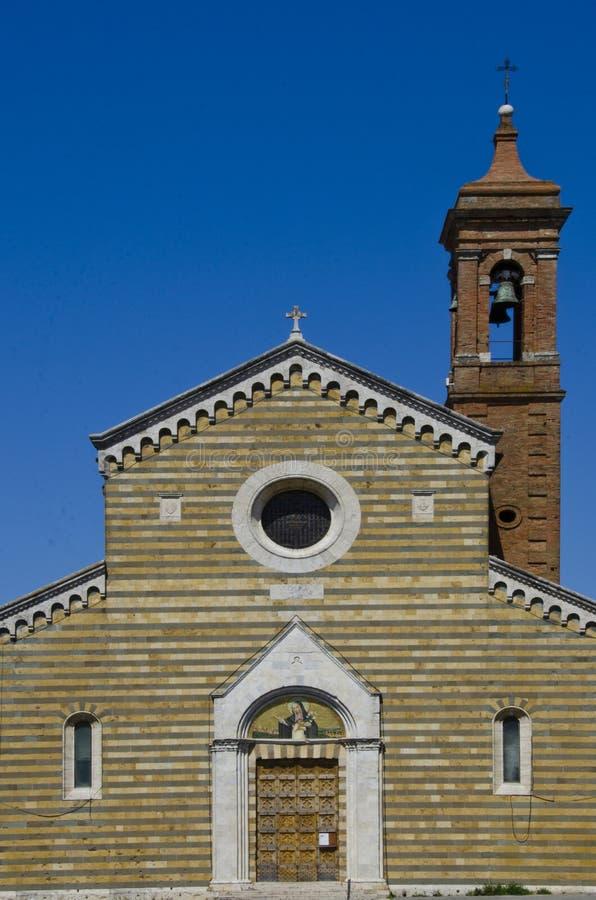 Sant Agnese Church i Montepulciano, Italien arkivfoton