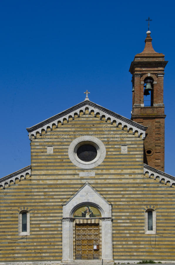 Sant Agnese Church in Montepulciano, Italy. Montepulciano, Italy is an Etruscan hill town founded sometime before 400 B.C. Today it is an agricultural center for stock photos