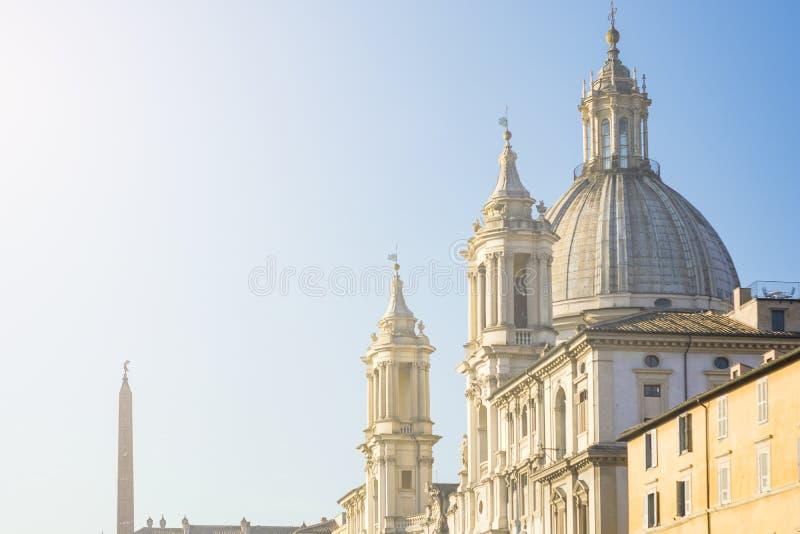 Sant Agnese en iglesia Agone en Roma fotos de archivo