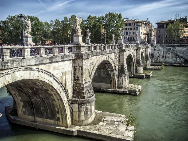 Sant'Angelo Bridge a Roma fotografia stock libera da diritti