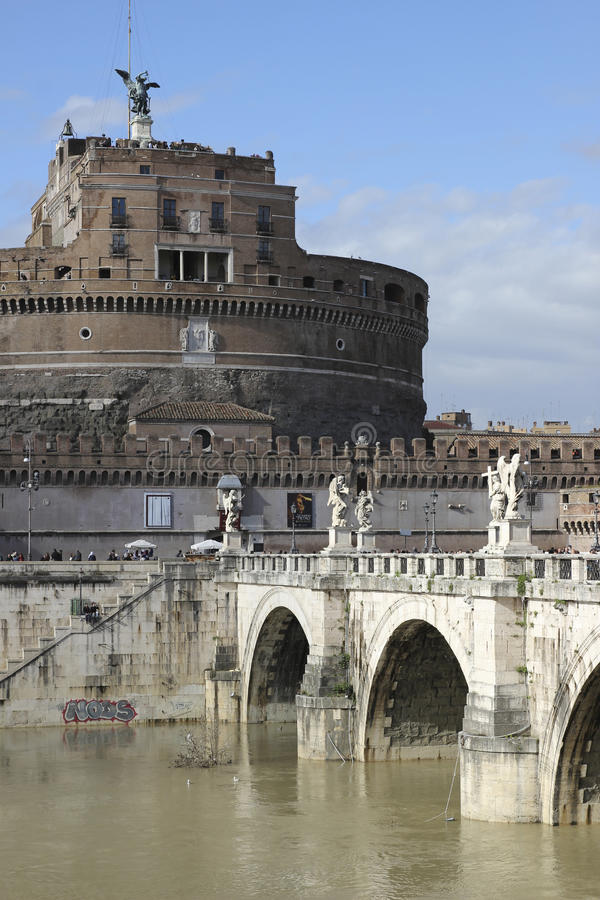 Sant Angelo Castle in Rome stock photography