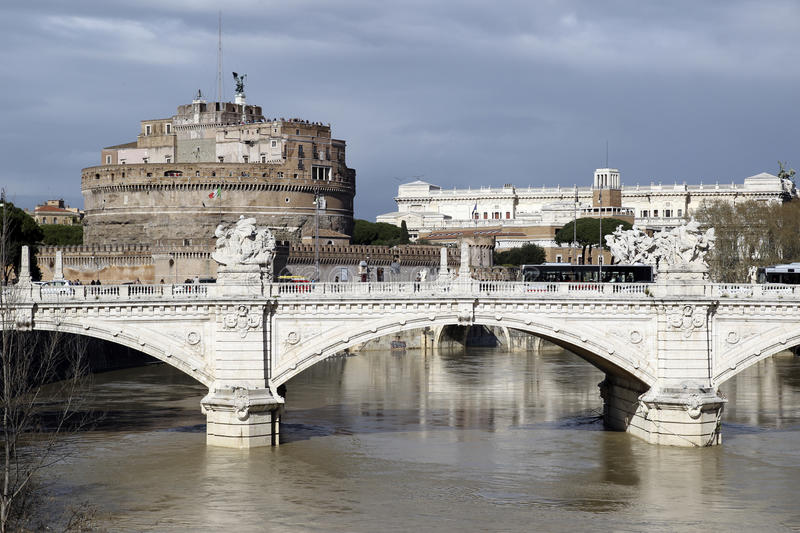 Sant Angelo Castle in Rome royalty free stock images
