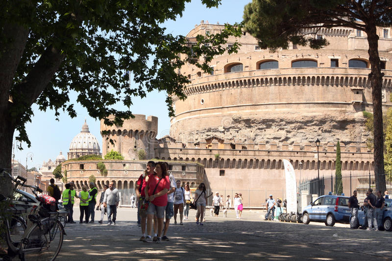 Sant Angelo Castle Rome Italy stock foto's