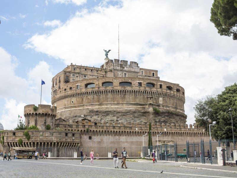 Sant Angelo Schloss, Rom lizenzfreies stockbild