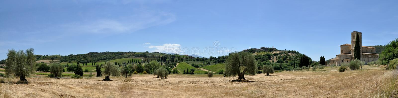 Sant& x27; Antimo opactwa panorama zdjęcia royalty free