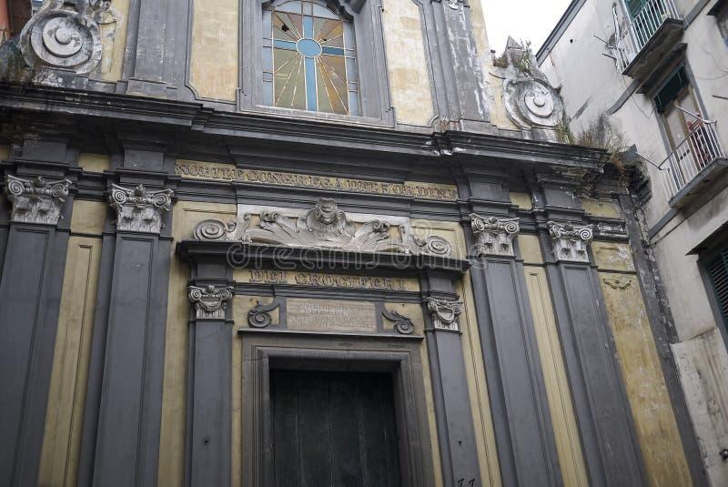 Sant Aspreno ai Crociferi教会 库存图片