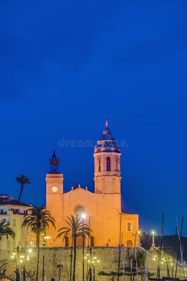 Download Sant Bartomeu I Santa Tecla At Sitges, Spain Stock Image - Image: 25137741