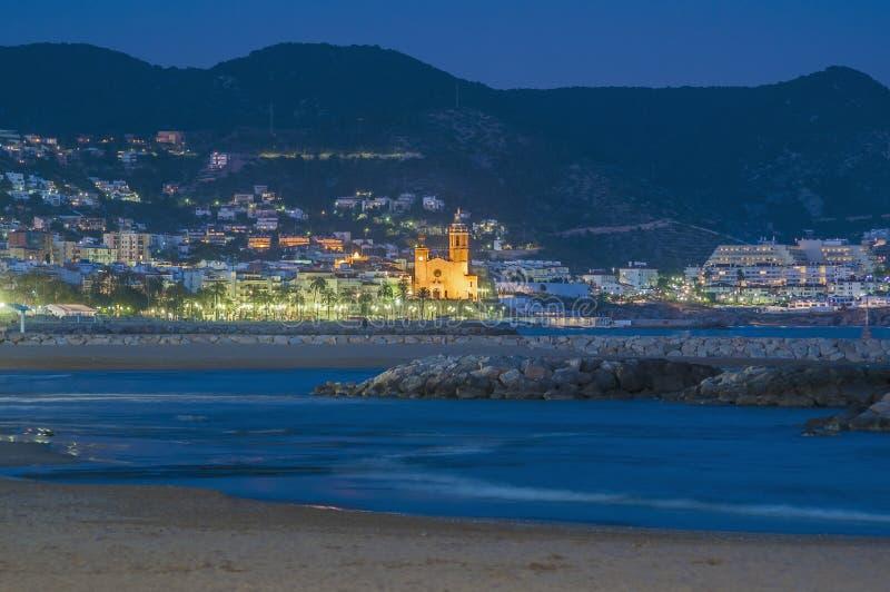 Sant Bartomeu mim igreja de Santa Tecla em Sitges fotos de stock royalty free