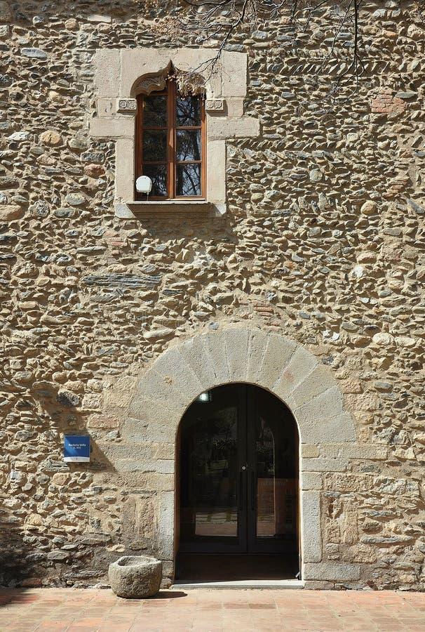 Sant Celoni卡塔龙尼亚古老神父寓所  图库摄影