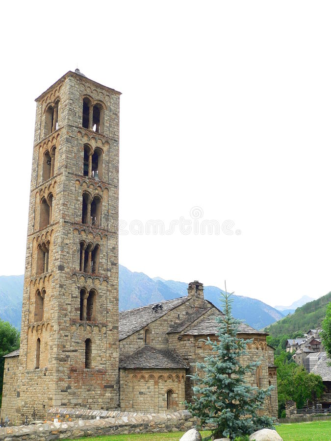 Sant Climent de Taull, La Vall de Boi (Spanien) stockfotografie
