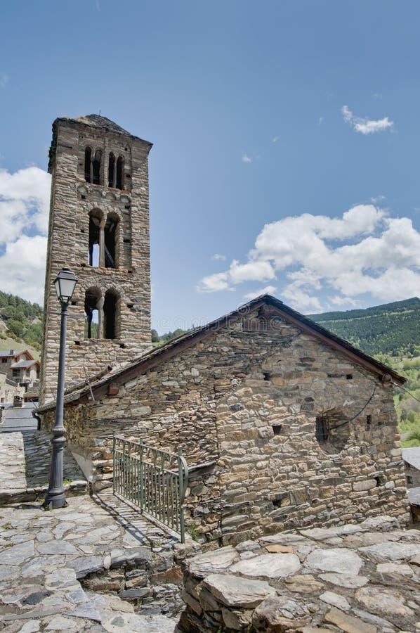 Sant Climent Kirche am Kumpel, Andorra stockfoto