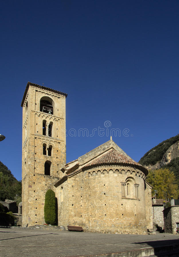 Sant Cristòfor Church in Beget village,. Garrotxa, Girona province, Spain royalty free stock images