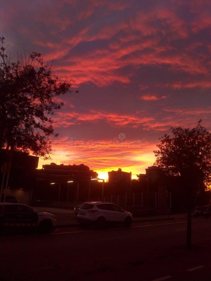 Sant-cugat Sonnenuntergang stockbilder