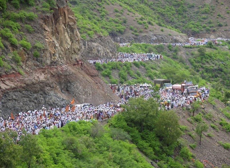 Sant Dnyaneshwar Palakhi, Pune, Maharashtra, Indien royaltyfri bild