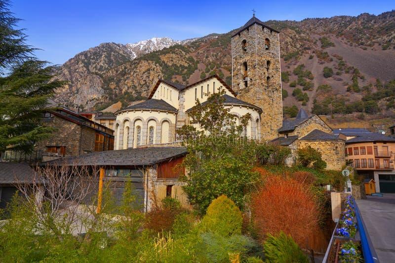 Sant Esteve kościół w Andorra losie angeles Vella obrazy stock