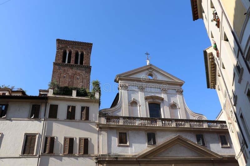 Download Sant ` Eustachio i Rome fotografering för bildbyråer. Bild av berömdt - 76703941