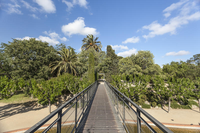 Sant Feliu de Llobregat,Catalonia,Spain. Public park, Parc de Torreblanca, Sant Feliu de Llobregat, province Barcelona, Catalonia stock image