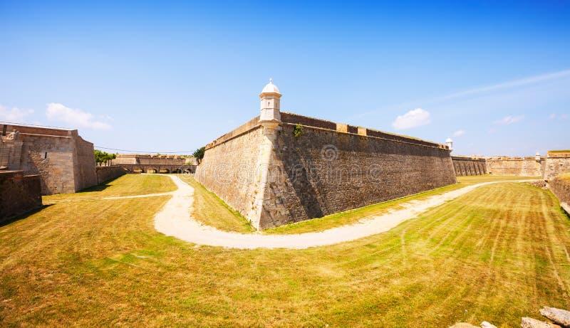Sant Ferran Castle em Figueres fotografia de stock royalty free