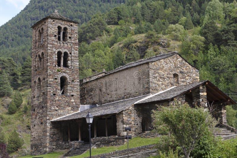 Sant Joan de Caselles, Andorra stockbild