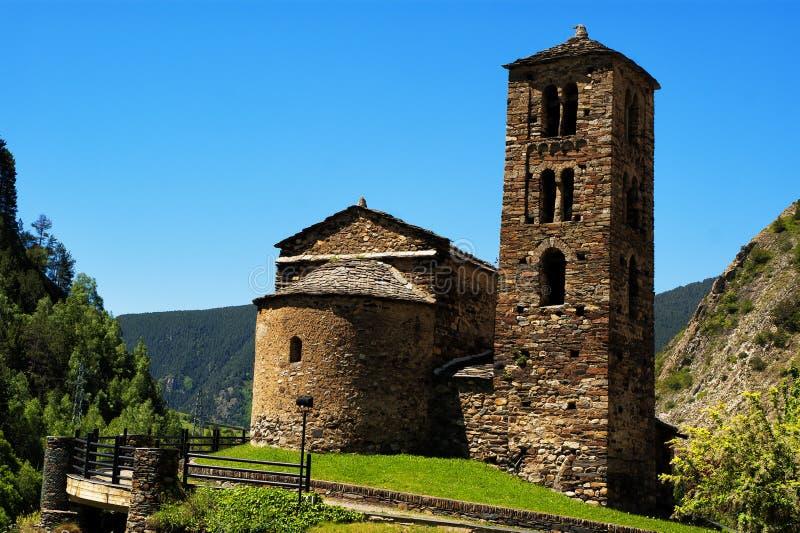 Sant Joan de Caselles Canillo, Andorra arkivfoto