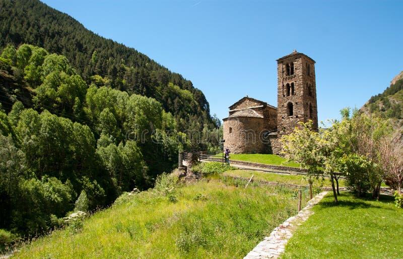 Sant Joan DE Caselles (Canillo, Andorra) stock afbeelding