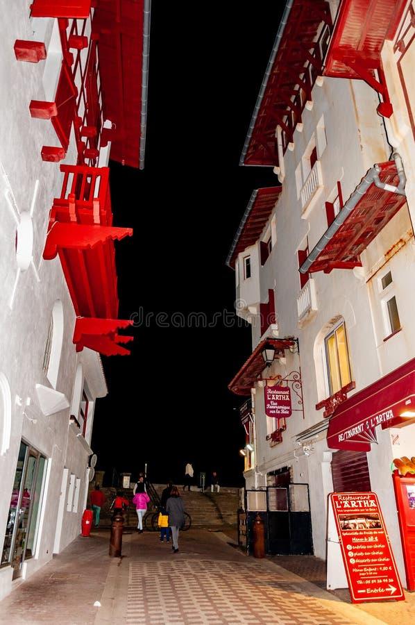 Sant Joan de Luz, Frankrijk: Schilderachtig dorp op de Atlantische Oceaan, in de Golf van Biskaje De laatste haven van Aquitaine  royalty-vrije stock foto's