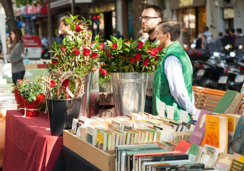 Sant Jordi in Barcelona stockfoto