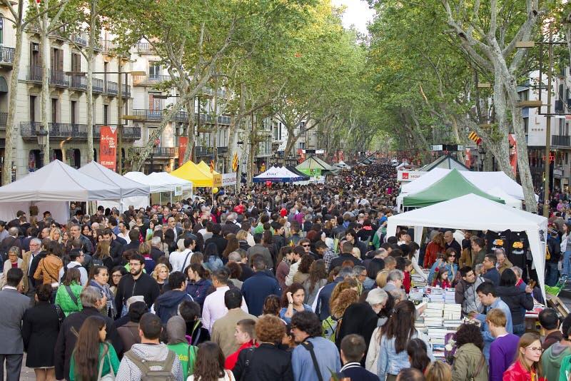 Sant Jordi Day in Barcelona royalty free stock photos