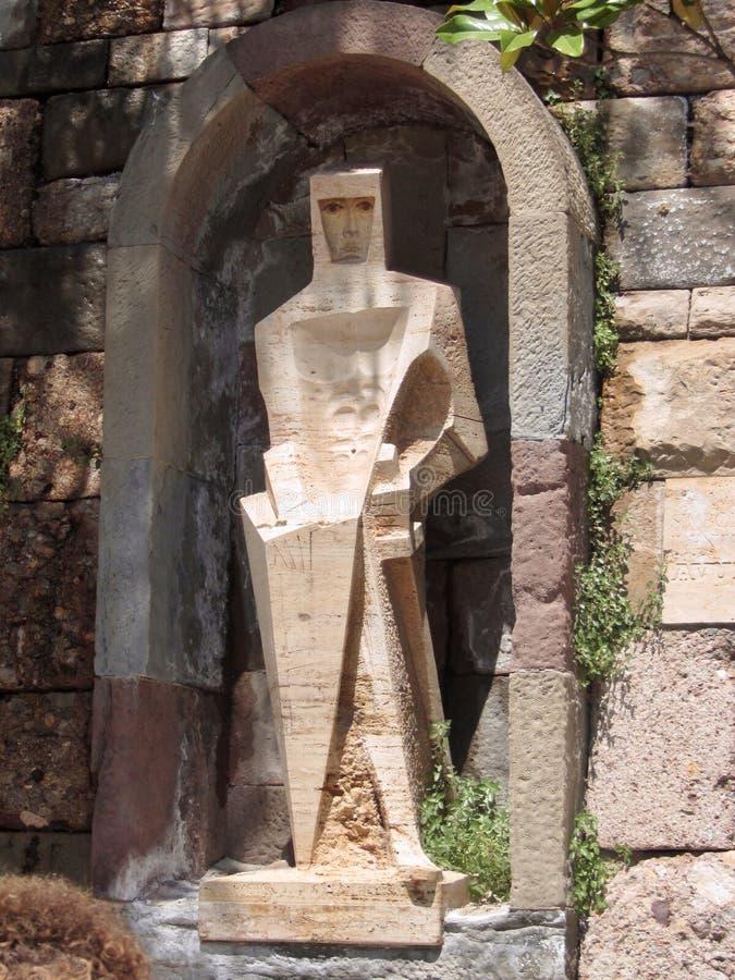 Sant Jordi - Heilige George Sculpture in Montserrat, Spanje stock foto's