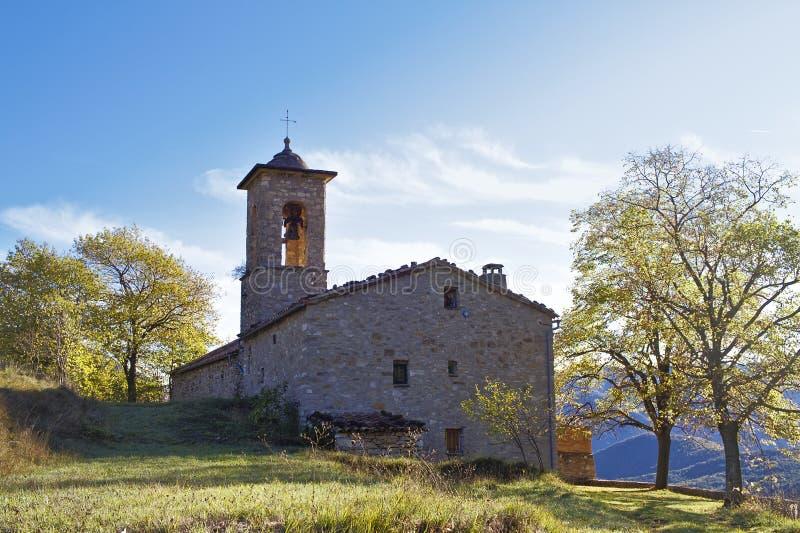 Sant Julia de Freixens Al norte de Cataluña imagen de archivo libre de regalías