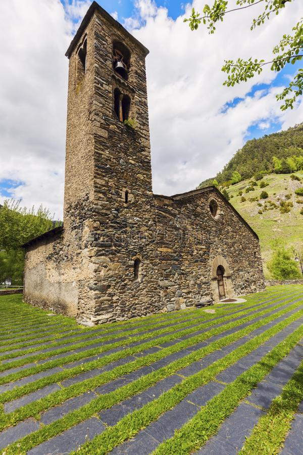 Sant Marti de la Cortinada Church in La Cortinada, Andorra. Sant Marti de la Cortinada Church in La Cortinada. La Cortinada, Andorra royalty free stock photos