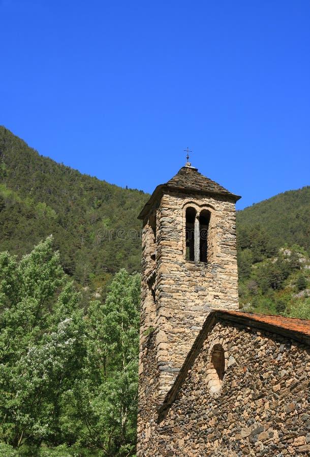 Sant Marti de la Cortinada (Ordino, Andorra) royalty free stock image